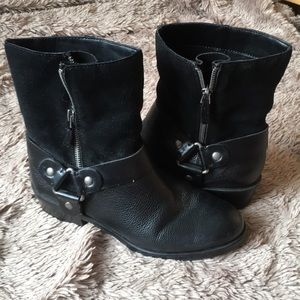 FRANCO SARTO zip up LEATHER booties